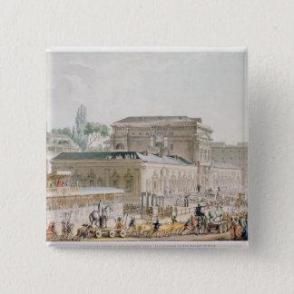 Herculaneumで見つけられる古さ 5.1cm 正方形バッジ