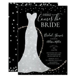 Here Comes The Bride Bridal Shower Invitation カード