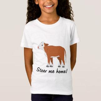 Herefordの子牛: 私を家に操縦して下さい tシャツ