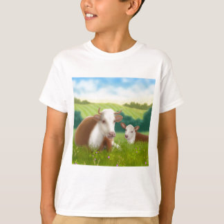 Herefordの牛および子牛 Tシャツ