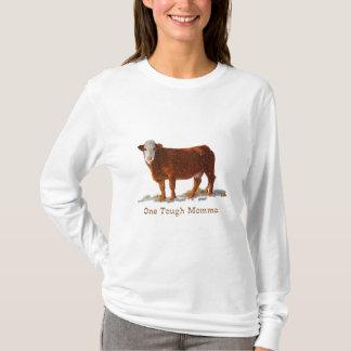 Hereford牛: 1堅いママ: 母の日 tシャツ