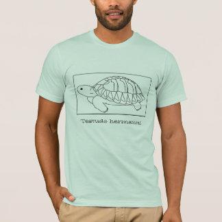 Hermannのカメのワイシャツ(箱、黒) Tシャツ