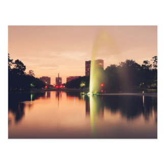 Hermann公園の噴水 ポストカード