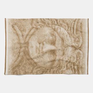 Hermesの神のHermesのギリシャの写真の古代イメージ キッチンタオル