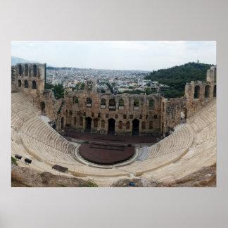 HerodesのAtticusのアテネのアクロポリスのOdeon ポスター