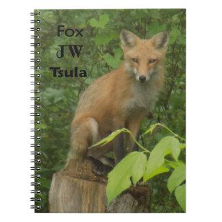 herokeeのキツネの美しい写真のノート ノートブック