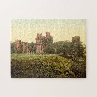 Herstmonceuxの城、サセックス、イギリス ジグソーパズル