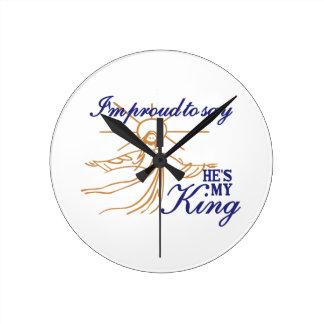 Hes私の王 ラウンド壁時計