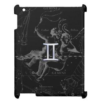 Heveliusのジェミニ(占星術の)十二宮図の印のようにクロム染料で染めて下さい iPad カバー
