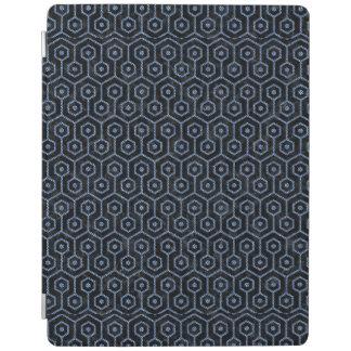 HEXAGON1黒い大理石及び青いデニム iPadスマートカバー