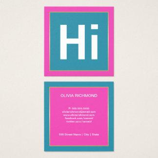 Hi BOLD COLORS | BUSINESS CARDS スクエア名刺