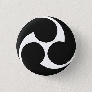 Hidari Mitsudomoeの左三つ巴のTaikoボタン 3.2cm 丸型バッジ