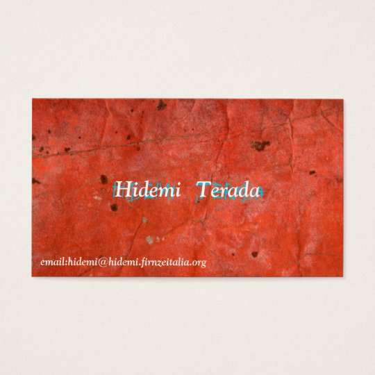 Hidemi Terada 名刺