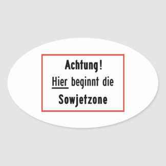 HierのbeginntはSowjetzoneのドイツ印死にます 楕円形シール