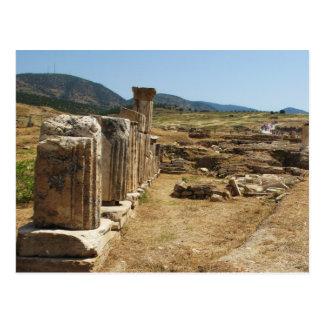 Hierapolis Pamukkaleトルコのローマの台なし ポストカード
