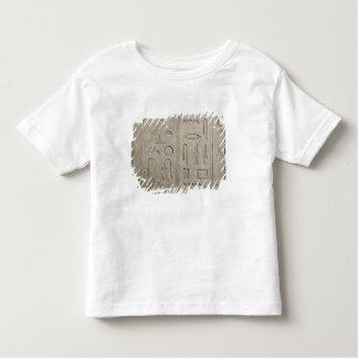 hieroglyphic銘刻文字の片 トドラーTシャツ