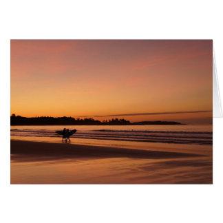 Higginsのビーチのサーフィンの日付 カード