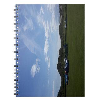 Hillendのキャンプ場のノート上の青空 ノートブック