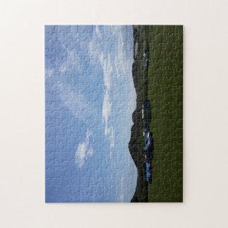 Hillendのキャンプ場の写真のパズル上の青空 ジグソーパズル