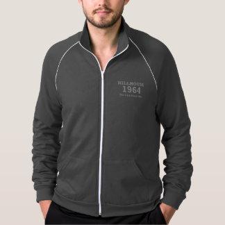 Hillhouse 「左の64の文字が付いている人の灰色のジャケット ジャケット