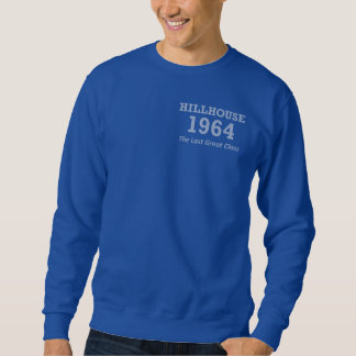 Hillhouse 「2つの側面印刷される64の明るく青いスエットシャツ スウェットシャツ