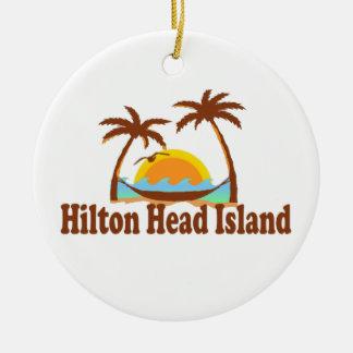 Hilton Head Island。 セラミックオーナメント