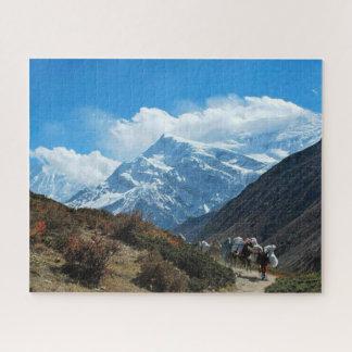 Himalaya mountain india nepal nature snow ジグソーパズル