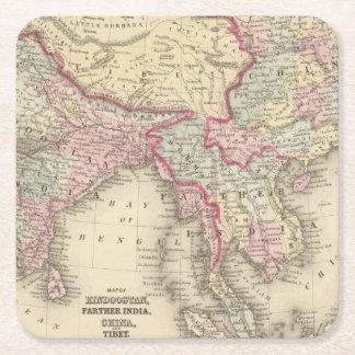 Hindoostan、より遠いインドの中国、チベット2 スクエアペーパーコースター
