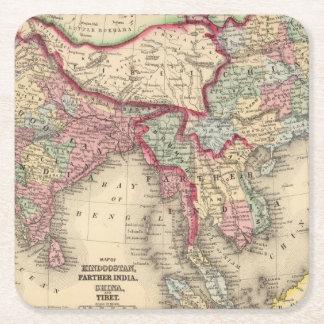 Hindoostan、より遠いインドの中国、チベット スクエアペーパーコースター