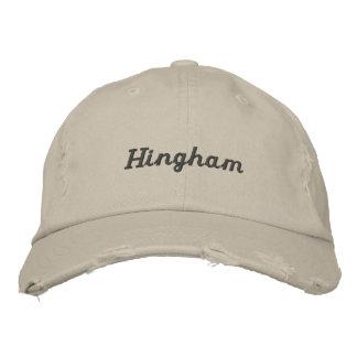 Hinghamの前動揺してな野球帽 刺繍入りキャップ
