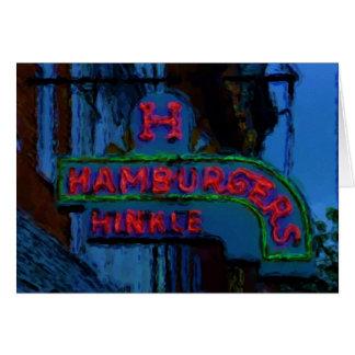 Hinkleのハンバーガーの印 グリーティングカード