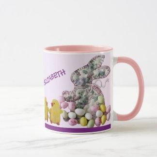 Hippity Hoppityのハッピーイースターのコーヒー・マグ マグカップ