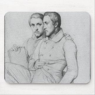 HippolyteおよびポールFlandrinの二重ポートレート マウスパッド