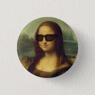 Hipster Mona Lisa in Hipster Shades da Vinci 3.2cm 丸型バッジ