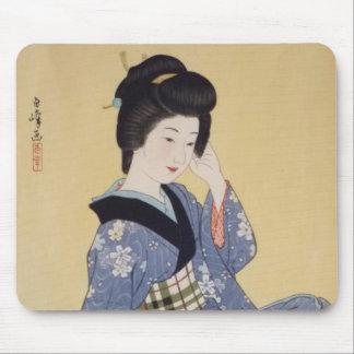 Hirano Hakuhoの若い女の子 マウスパッド