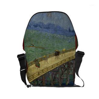 Hiroshigeの後の雨のゴッホ橋 メッセンジャーバッグ