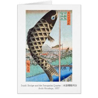 HIroshige凧のSuido橋 カード