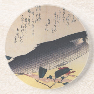 Hiroshige著ボラそしてツバキ コースター