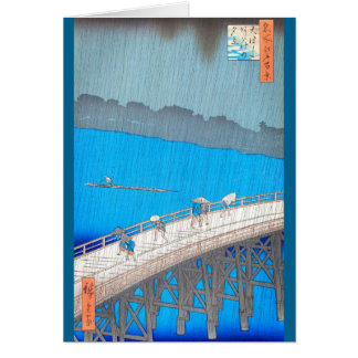 Hiroshige著豪雨 カード