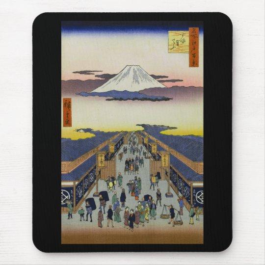 Hiroshige , 江戸名所百景、『 駿河町 』、歌川広重 マウスパッド