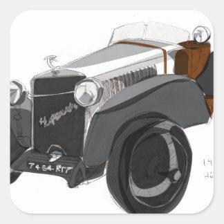 Hispano Suizaのクローズアップ スクエアシール