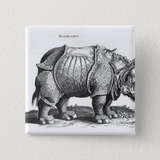 「Historia Animaliumからのサイ、 5.1cm 正方形バッジ