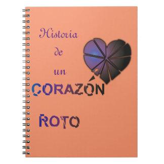 Historia de unのcorazonのroto ノートブック