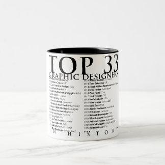 History_01の上33のグラフィックデザイナー ツートーンマグカップ
