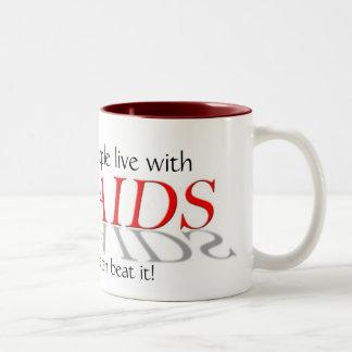 HIV/AIDS |の資金集めをするマグ ツートーンマグカップ