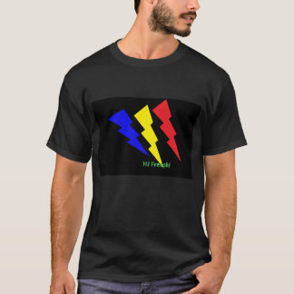 HJfreeskiの稲妻 Tシャツ