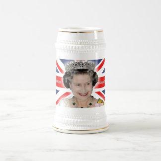 HMエリザベス女王二世-プロ写真 ビールジョッキ
