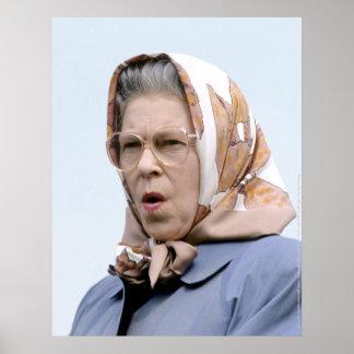 HMエリザベス女王二世Windsor 1990年 ポスター