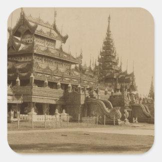 Hman Kyaungかガラス修道院、ビルマ スクエアシール