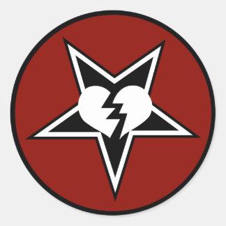 HMGのステッカー(6、赤い) ラウンドシール